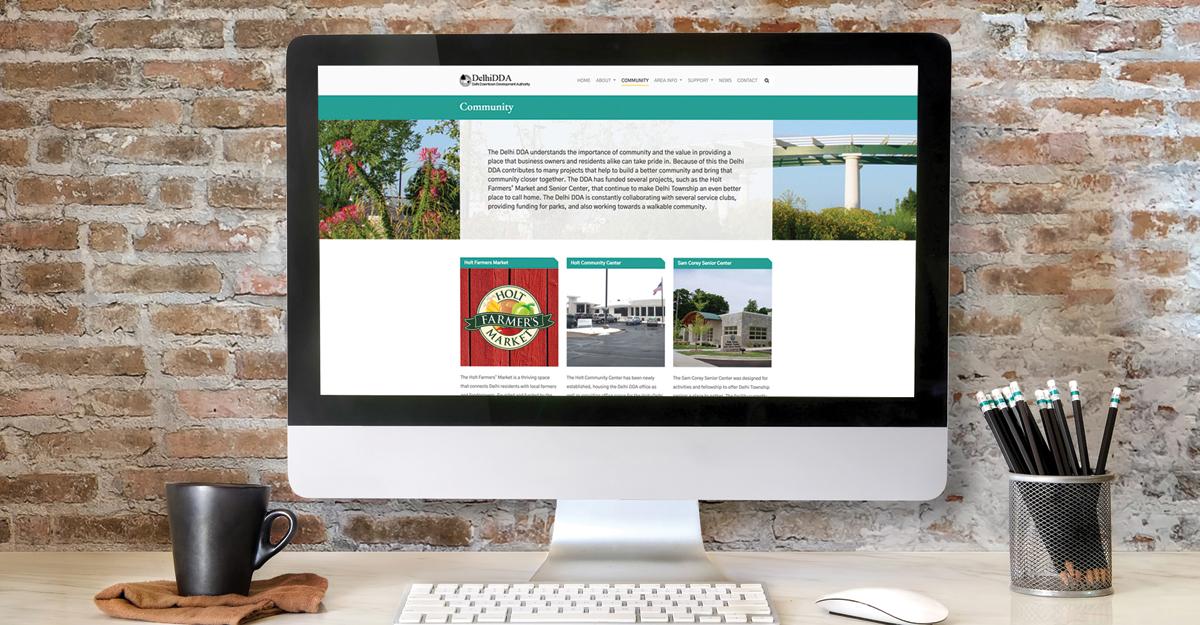 DDA Website on Computer